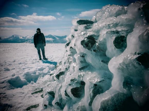 Ice on Moel Eilio