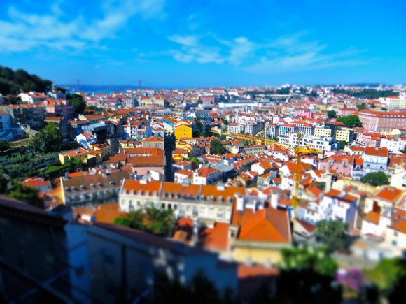 Minature Lisbon from Miraduro da Graça