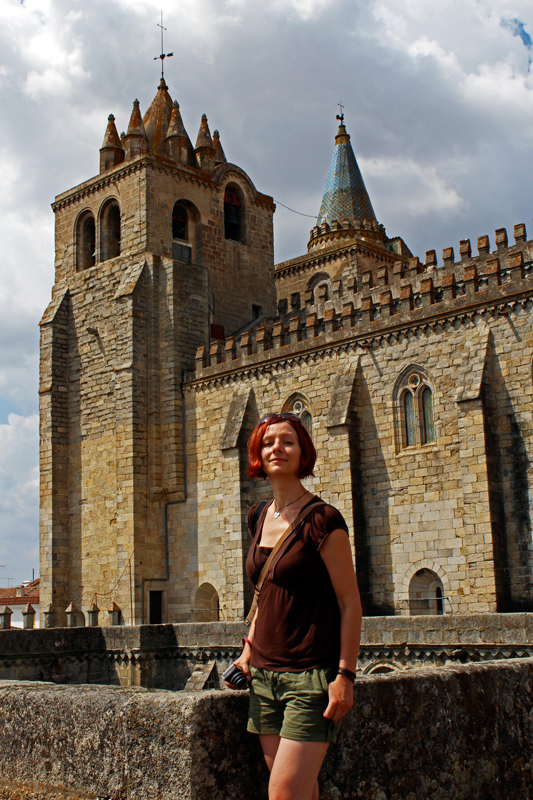 Gina and the Cathedral towers