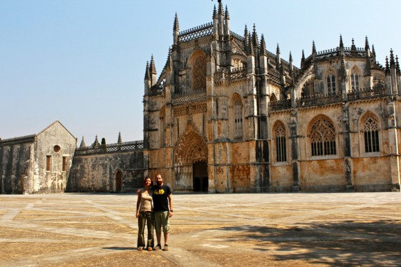 Us outside the Batalha Monastery