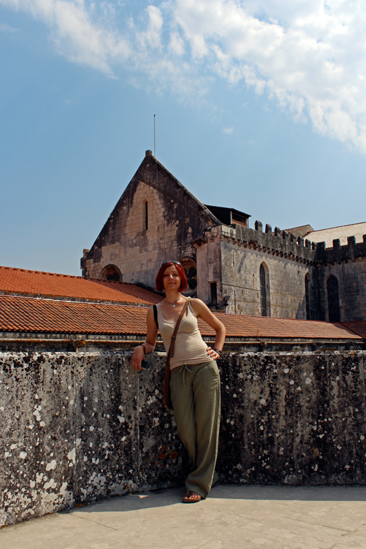 Gina and the Alcobaça Monastery.