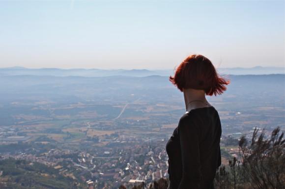 Gina overlooking Serra da Estrela