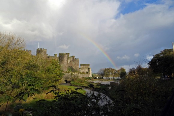 Rainbow at Conwy Castle