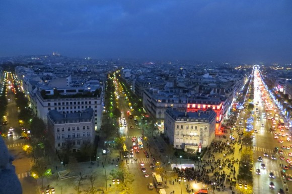 Paris from Arc de Triomphe