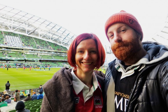 Us at the Aviva Stadium