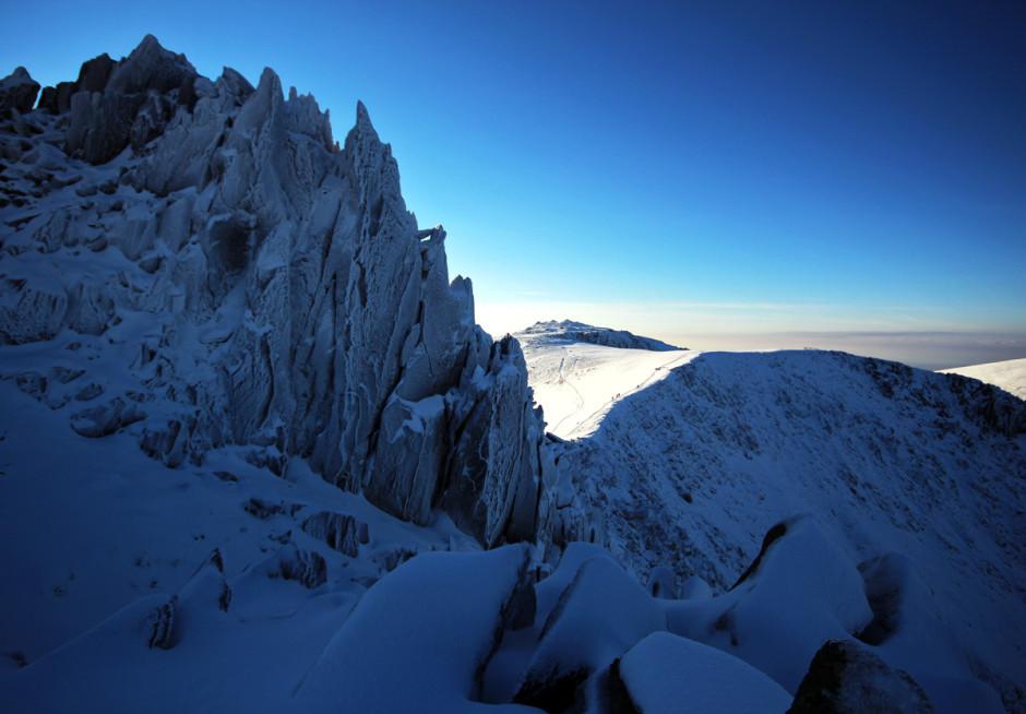 Icy Castell y Gwynt & Glyder Fawr