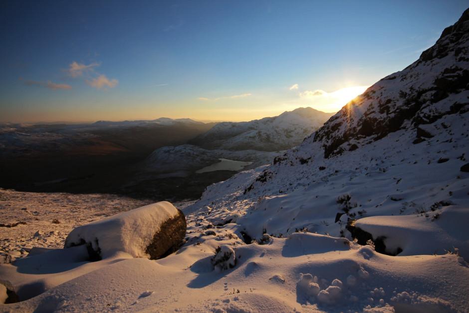 Bwlch Dwyglydion - looking down towards Llyn Cwmffynon