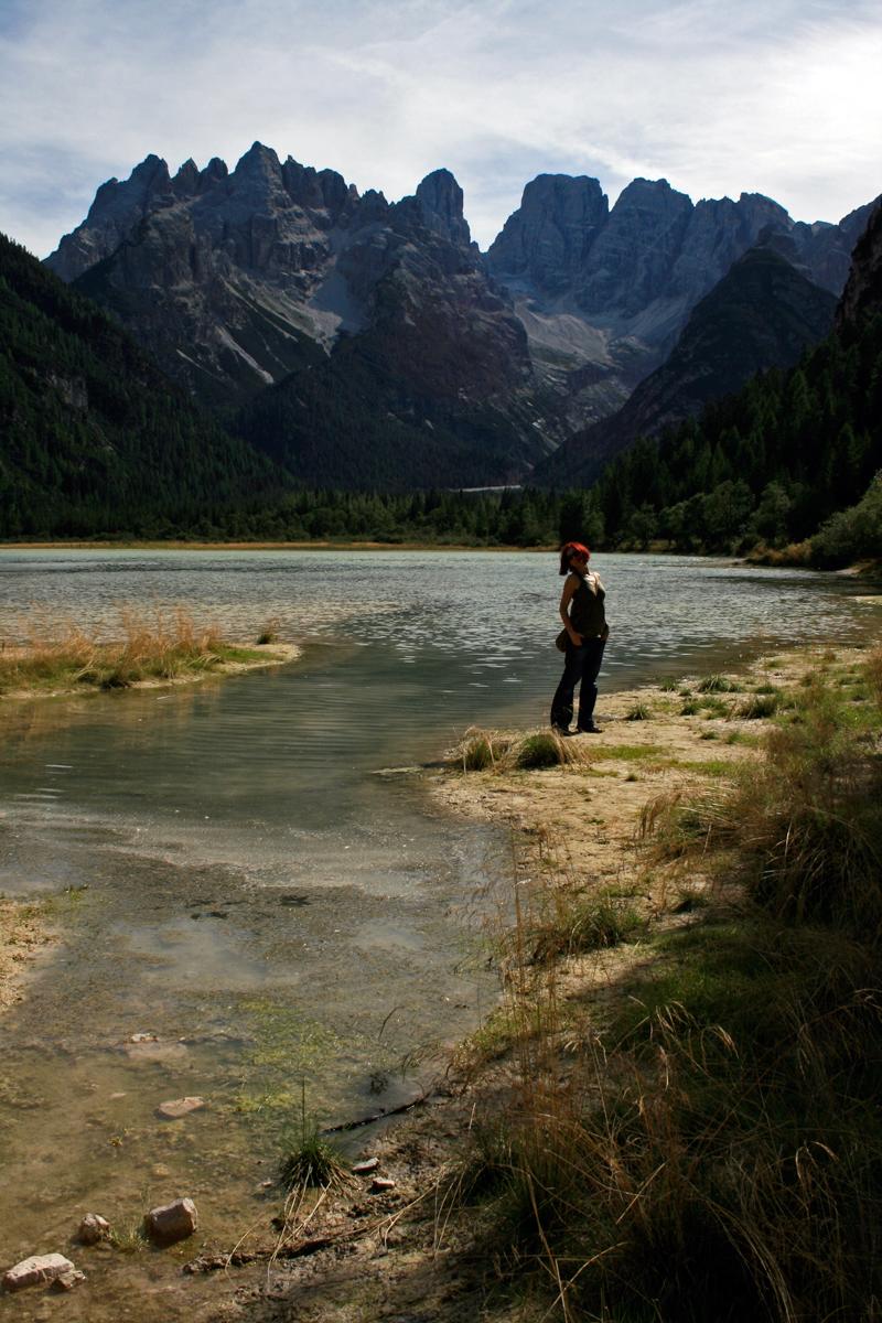 Gina at Lago di Landro