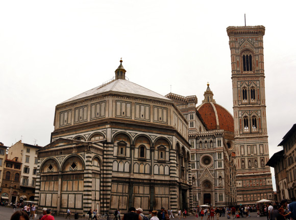 The Duomo and Baptistery of St. John from Piazza del Duomo