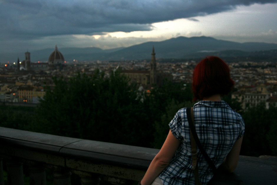 Gina at Piazzale Michelangelo