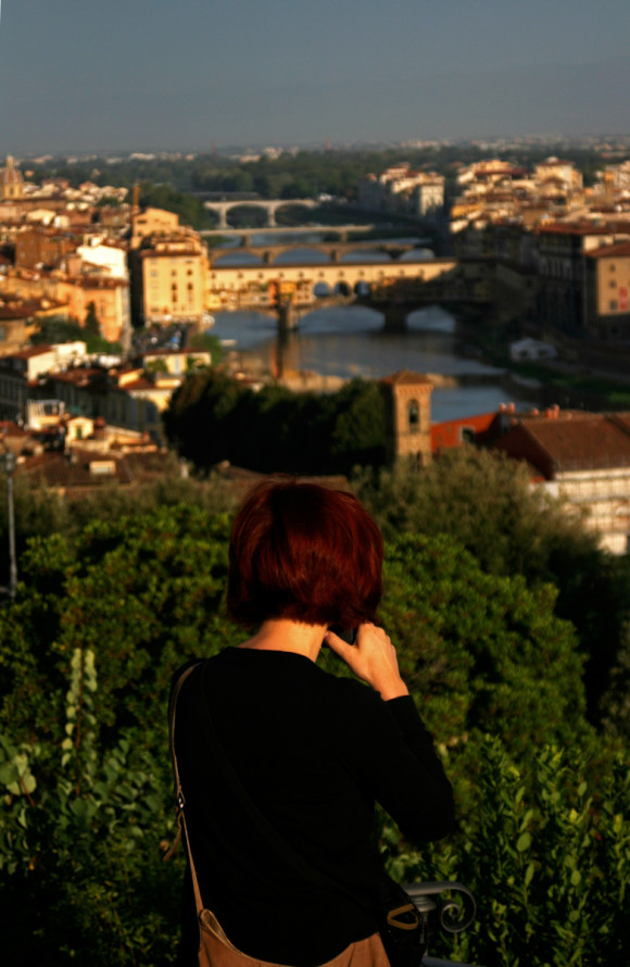 Gina and the Arno River