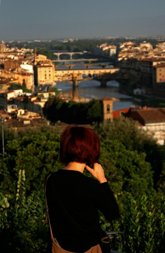 Gina and the Arno River