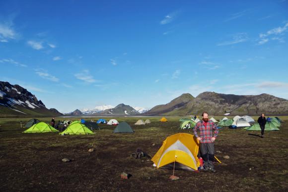 Campsite at Álftavatn