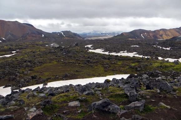 Looking back towards Landmannalaugar
