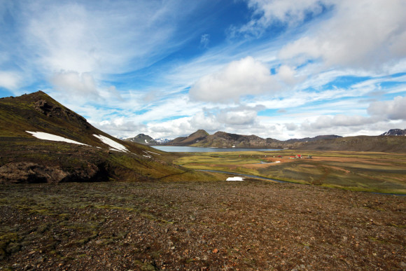 View of the Álftavatn valley