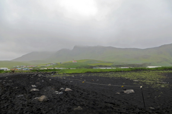 Vik under heavy rain