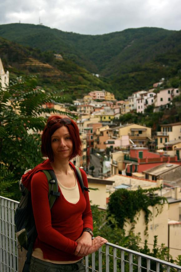Gina at Cinque Terre